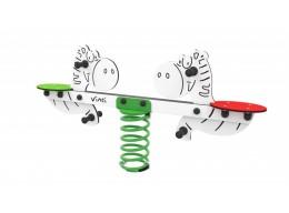 Spyruoklinis žaislas vaikams Du arkliukai