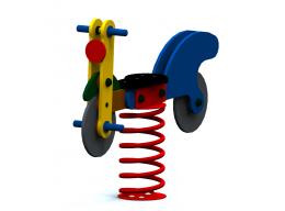 Spyruoklinis žaislas vaikams Dviratukas
