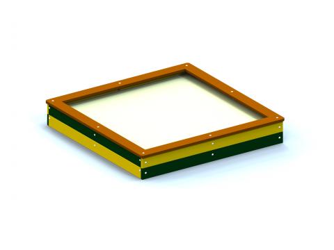 Smėlio dėžė 2,0 x 2,0 m.