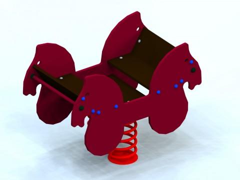 Spyruoklinis žaislas vaikams Karieta