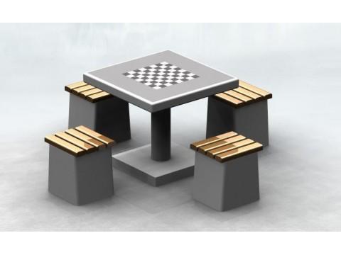 Betoninis šachmatų stalas