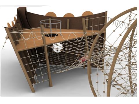 Lauko vaikų žaidimų aikštelė Vikingų laivas